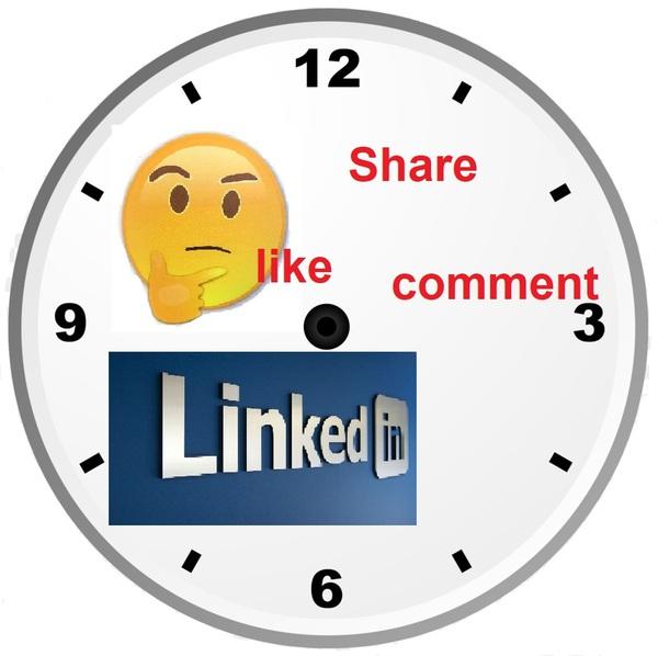 Post timing on LinkedIn