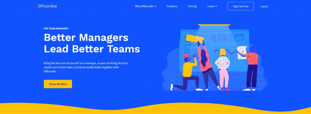 officevibe landing page design