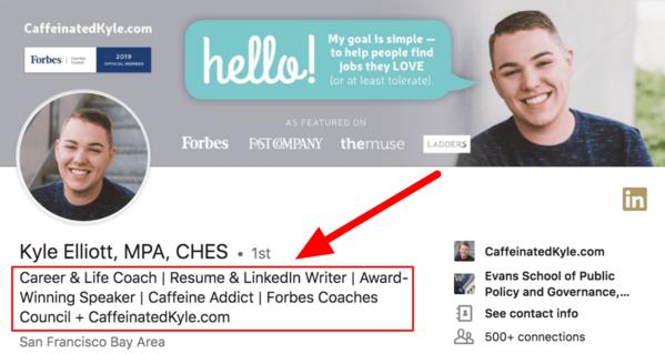 How to write a good LinkedIn headline
