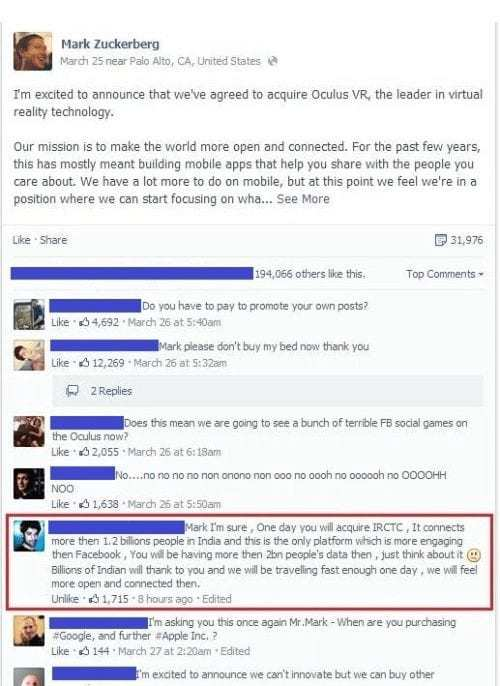 Funny Facebook posts 9