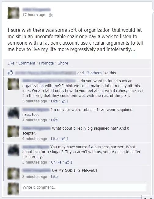 funny facebook conversations