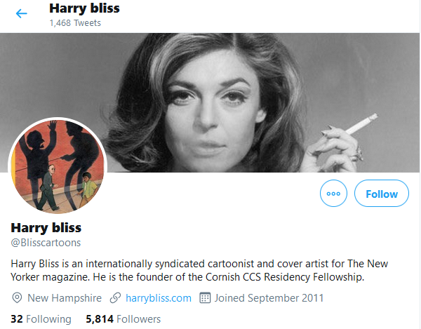 Harry bliss twitter bio