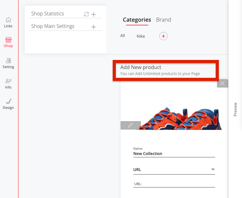 You can add unlimited products on iShop