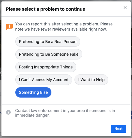 Recover your own Facebook account