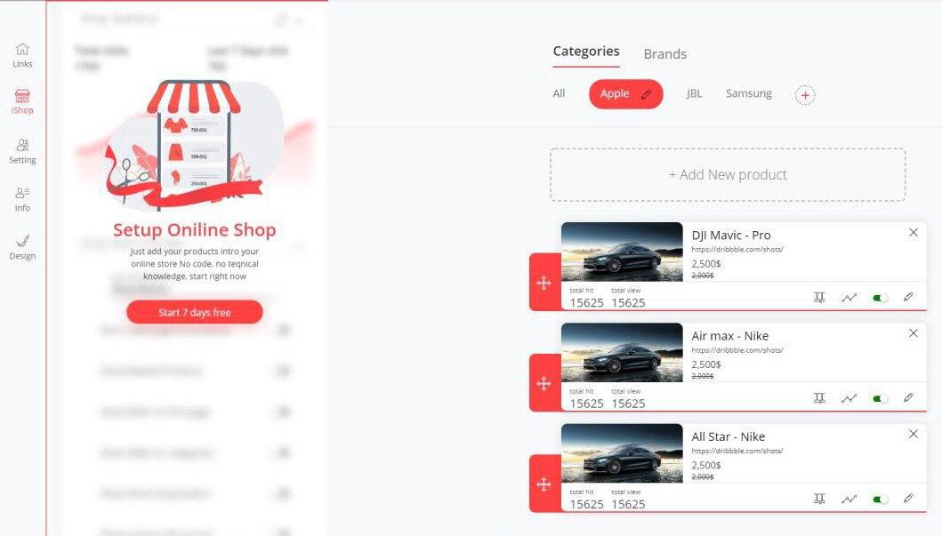 Build online store with iLink's iShop instantly