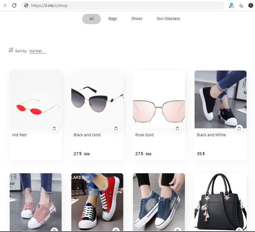 iLink online store builder